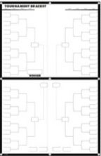 Alpine Choice March Madness Tournament Bracket Poster – Large 64 Player+Dry Erase Poster with 2 Mrkrs