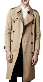 Men's Double Breasted Trench Coat