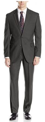 Perry Ellis Men's Slim Fit Suit with Hemmed Pant