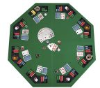 JungleA 48-inch Portable Poker Table Top Folding Octagon 8-Player Poker